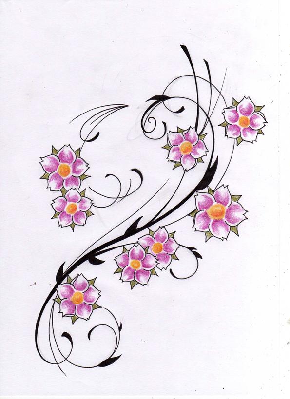 mabek tatto flower tattoo design. Black Bedroom Furniture Sets. Home Design Ideas
