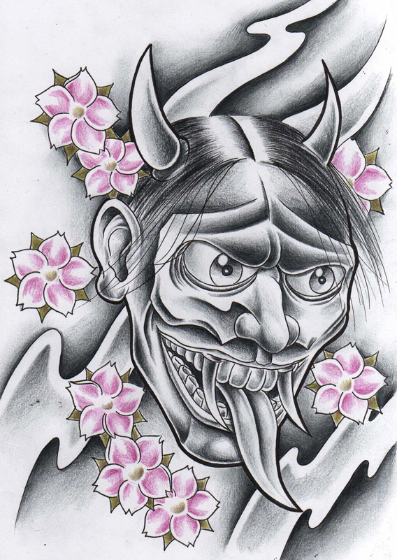 evil hannya mask by willemxsm on deviantart. Black Bedroom Furniture Sets. Home Design Ideas