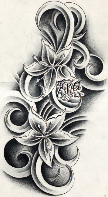 Custom flowers tattoo design by willemxsm on deviantart for Customize tattoos for free
