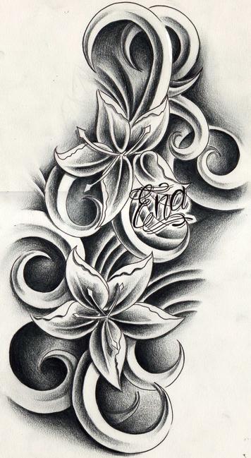custom flowers tattoo design by willemxsm on deviantart. Black Bedroom Furniture Sets. Home Design Ideas
