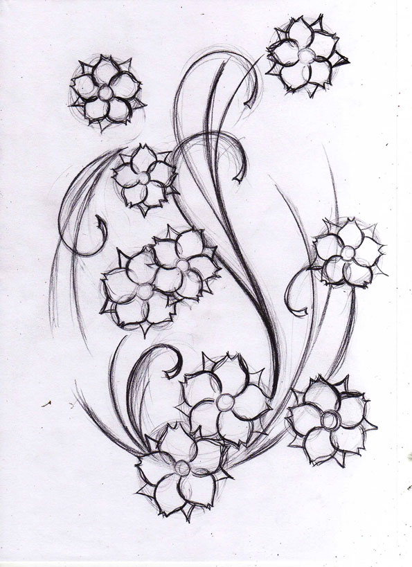 Flowers Tattoo Sketch By Willemxsm On Deviantart
