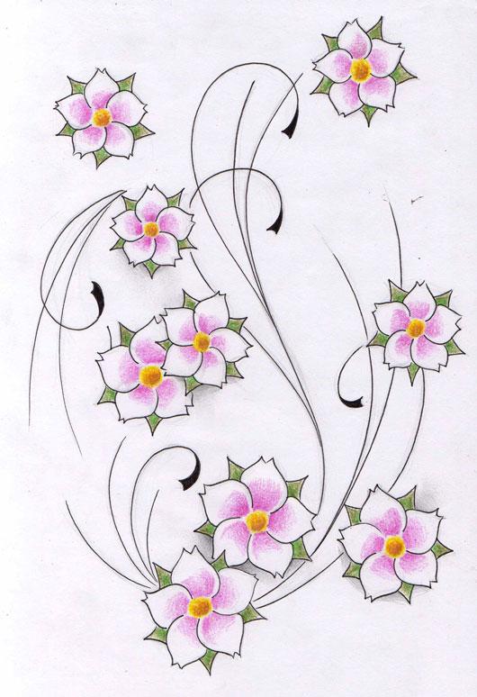 flowers tattoo design new by WillemXSM on deviantART