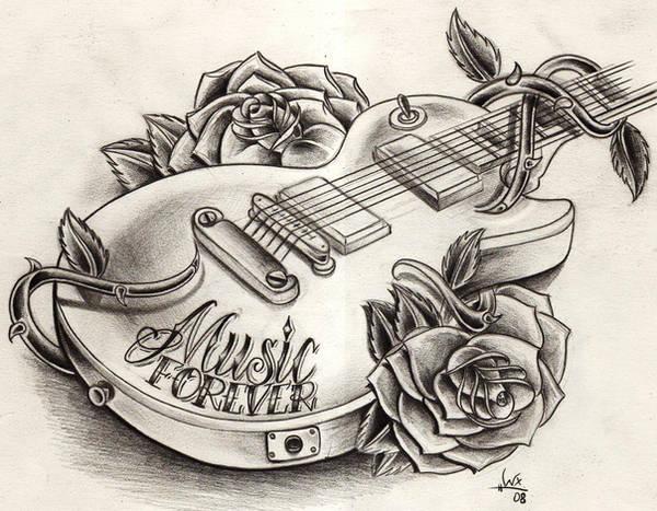 guitar sketch by WillemXSM