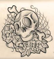 skulls n roses by WillemXSM