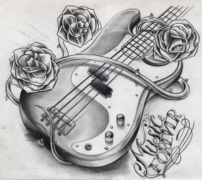music forever bass guitar by willemxsm on deviantart. Black Bedroom Furniture Sets. Home Design Ideas