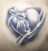 heart tattoo practice by WillemXSM