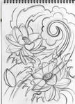 japanese lotus sketch