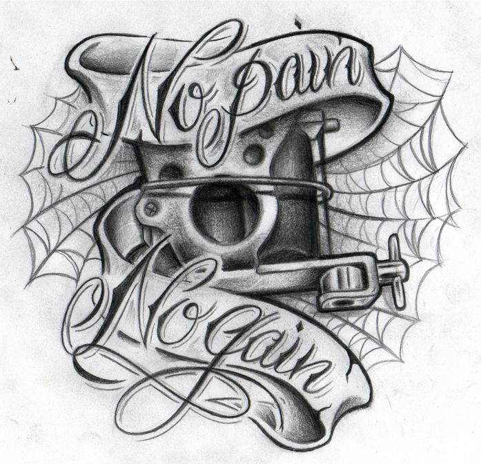 Live Life With No Regrets Tattoo Sketches Drawing Art: No Pain No Gain II By WillemXSM On DeviantArt
