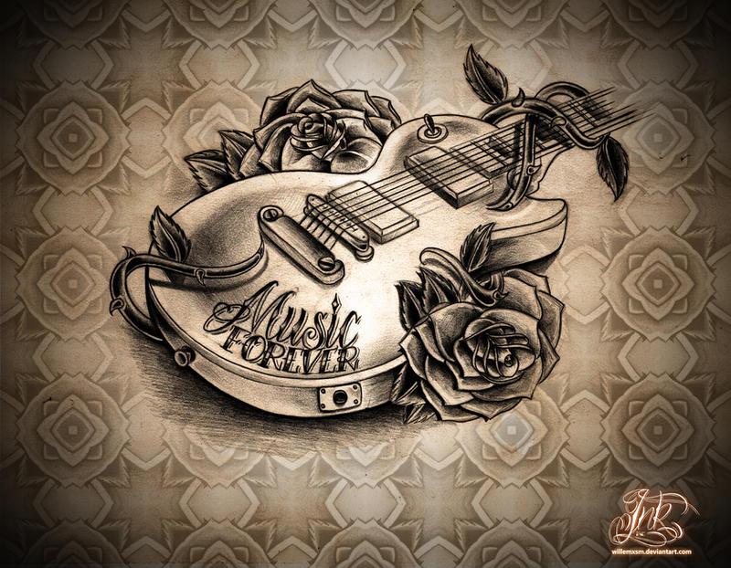 Simson tattoo for Feminine music tattoos