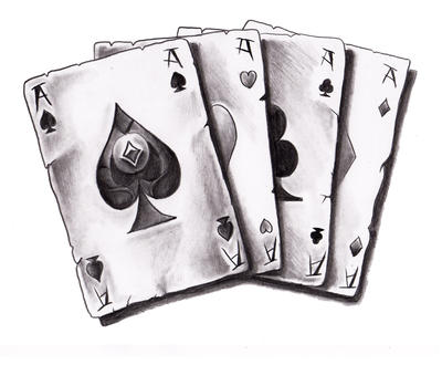 Cards for wheesje by willemxsm on deviantart for Card tattoo designs
