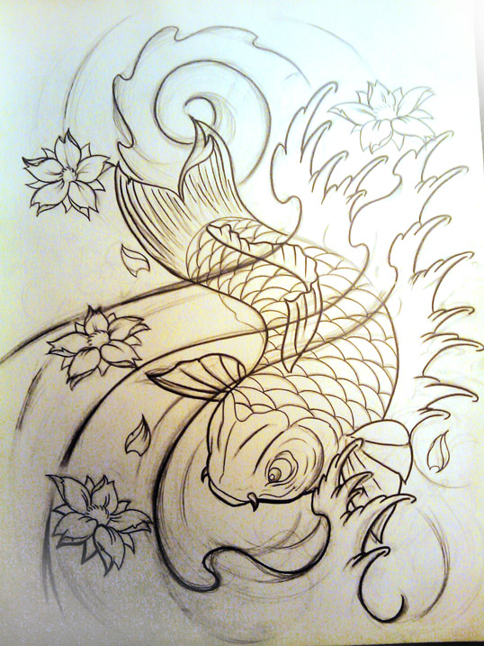 koi fish idea by WillemXSM