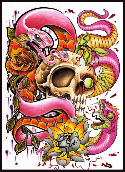 wallpaper tattoo colourful - photo #36
