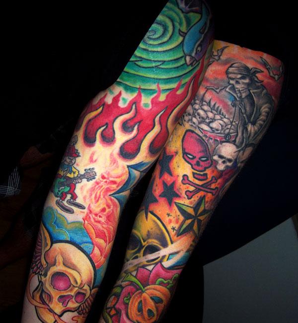 skull tattoos,sugar skull tattoos,day of the dead skull tattoos,Mexican