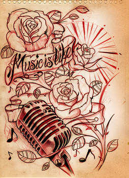 Music is life Sketch