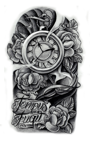 Clock tattoo tumblr clock forearm by willemxsm - Commission Clock Design By Willemxsm On Deviantart