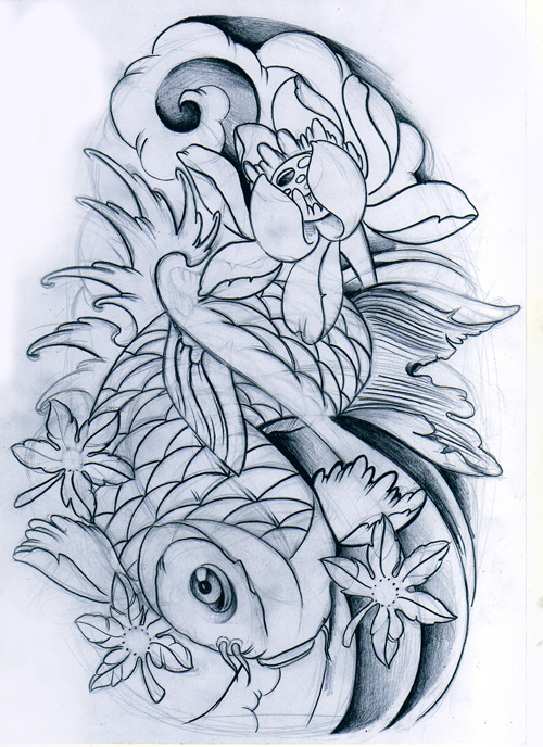 Koi fish unfinished by willemxsm on deviantart for Coy fish designs