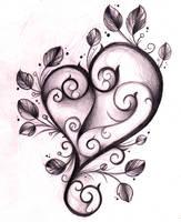 Heart Tattoo Design Sketch by WillemXSM