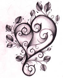 Heart Tattoo Design Sketch by WillemXSM