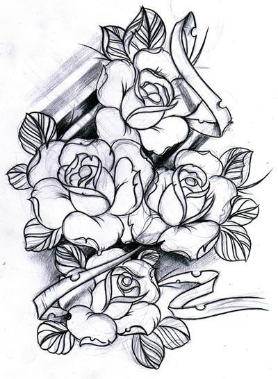 sketch roses by willemxsm on deviantart. Black Bedroom Furniture Sets. Home Design Ideas