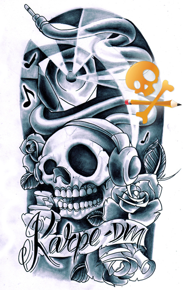 Gallery images and information: Cool Dj Tattoo Designs