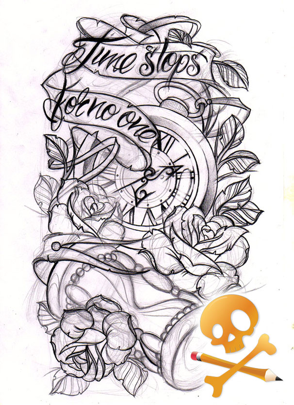 Clock tattoo tumblr clock forearm by willemxsm - Commission Sketch H By Willemxsm On Deviantart
