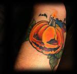 Tattoo in progress