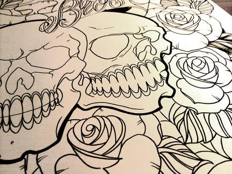 Line drawing photo