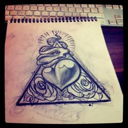 new sketch heart