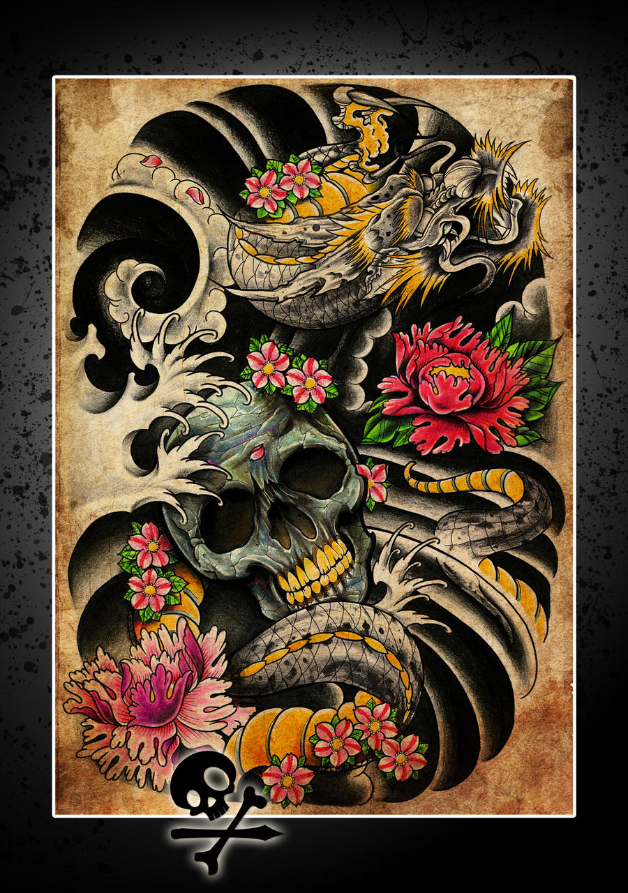 Dragon poster thingy by willemxsm on deviantart for Back mural tattoo designs