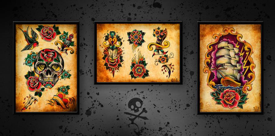Traditional Tattoo Set by WillemXSM on DeviantArt