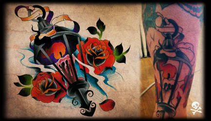 newschool tattoo in progress by WillemXSM