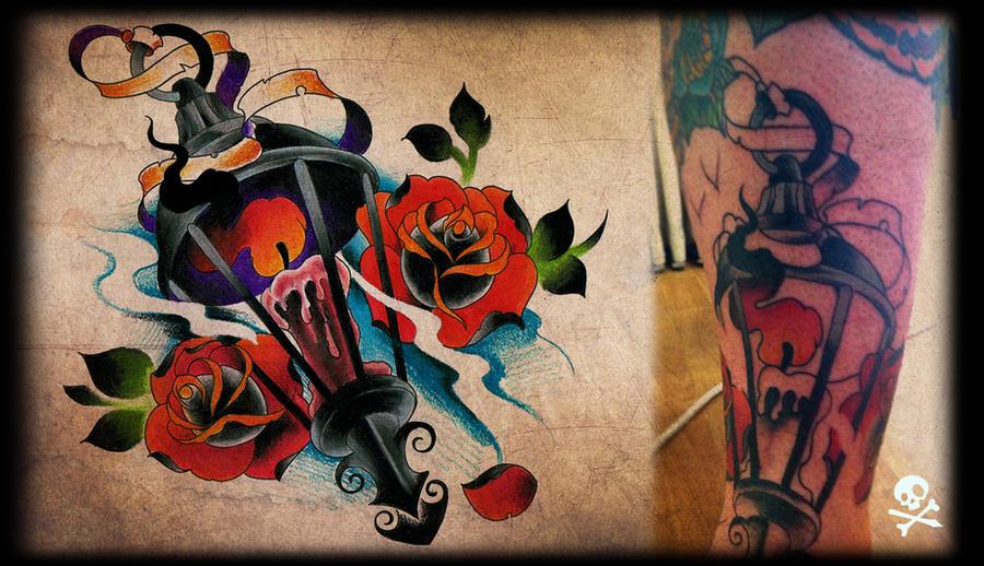 newschool tattoo in progress by WillemXSM
