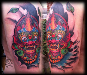 Balinese mask cover-up