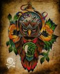 Commission - owl tattoo