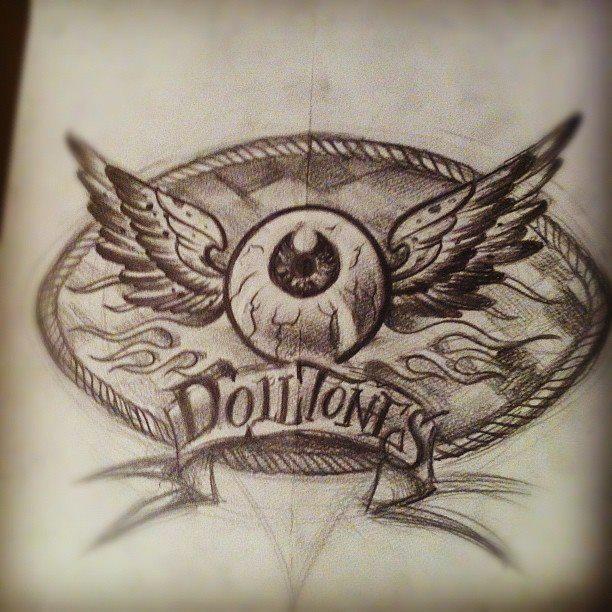 Rockabilly band logo sketch by WillemXSM
