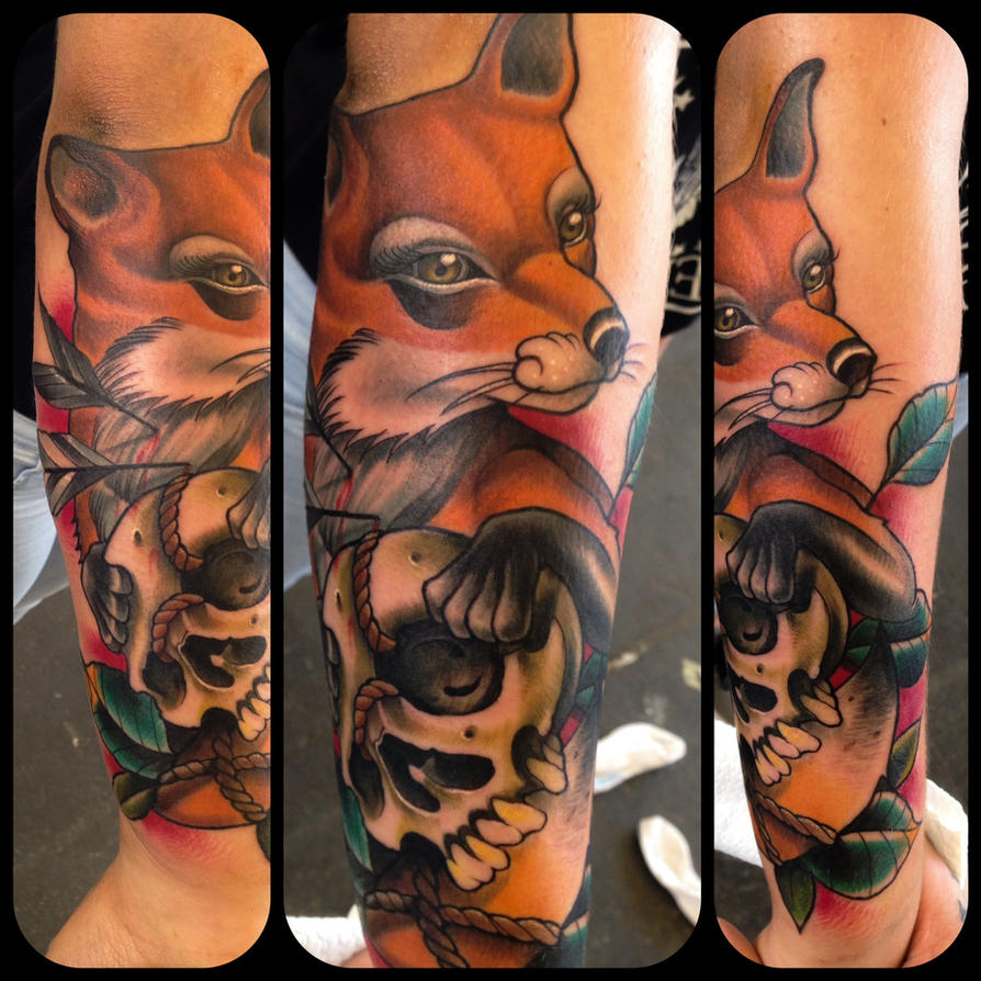 neo traditional fox tattoo by WillemXSM on DeviantArt