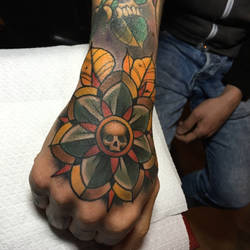 mandala hand tattoo by WillemXSM