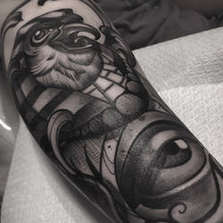 Egypt tattoo horus by WillemXSM