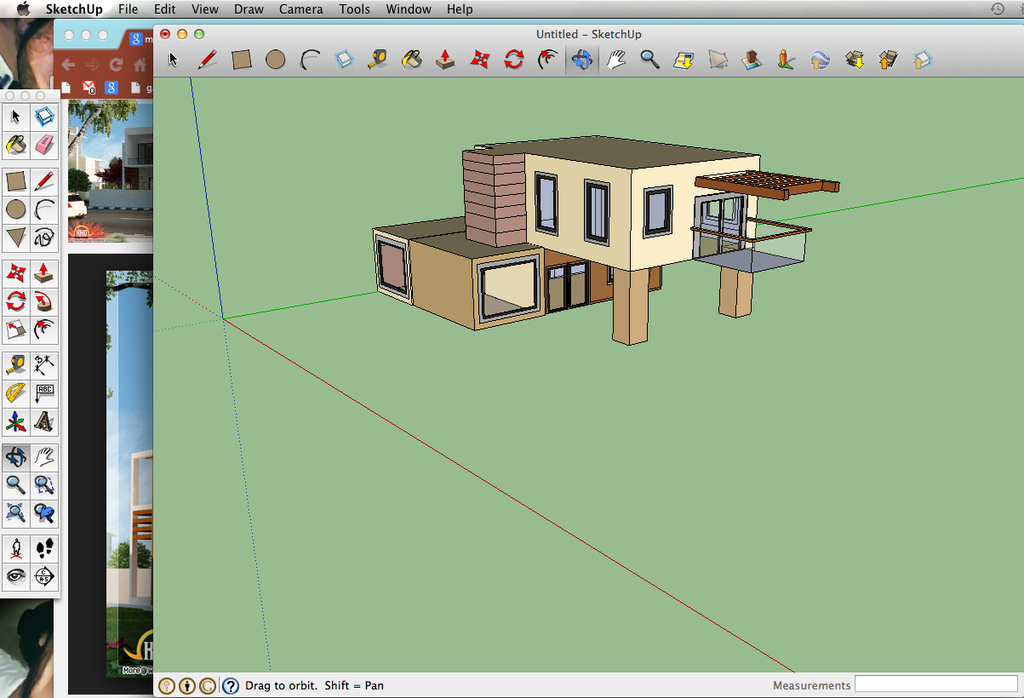 Google sketchup creating a modern style house 3 by for Modern house sketchup