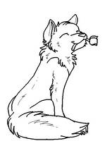 Wolf with Rose Lineart by Warrioratheart