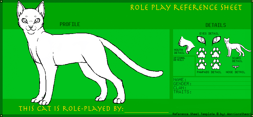 Cats Eye Reference Sheet