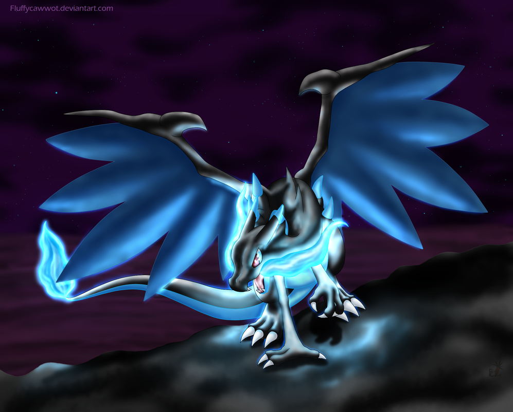 Charizard Mega Evolution X by fluffycawwot