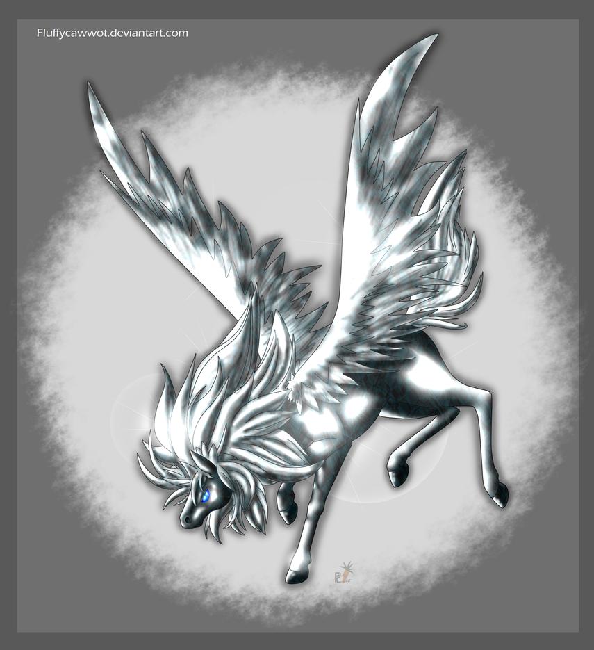 Metallic Pegasus by fluffycawwot