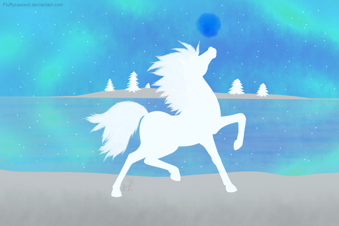 Ice Horse by fluffycawwot