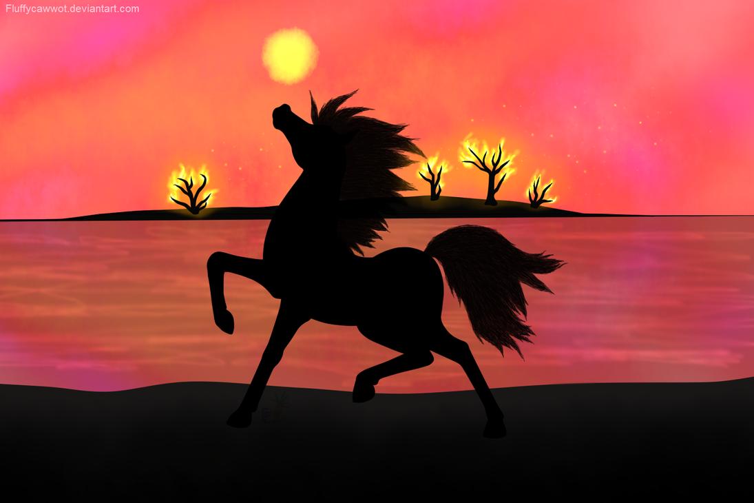 Fire Horse by fluffycawwot