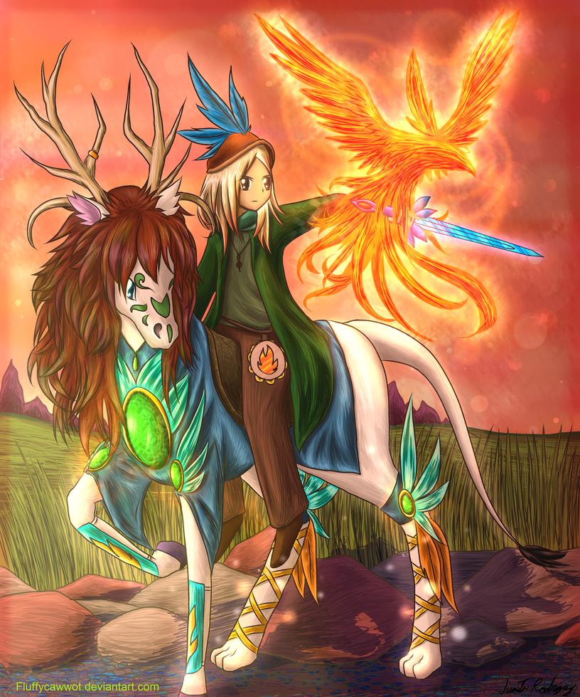 Minstrel Rider by fluffycawwot