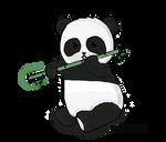 PANDA-Eating a Bamboo(Transparent)