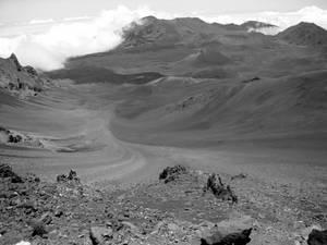 Mount Haleakala Valley (Black and White)