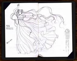 Sketchbook pg.7 - Moon Princess by ElfBean