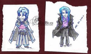Sketchbook pg.17 - Chibi Kiryu by ElfBean